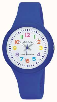 Lorus Unisex blauen Gummiband weißes Zifferblatt RRX45EX9