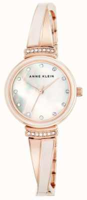 Anne Klein Frauen Roségold Tone Armband Mutter Perle Zifferblatt AK/N2216BLRG