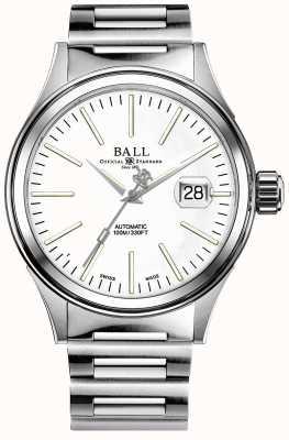 Ball Watch Company Mens Feuerwehrmann Unternehmen Auto Edelstahl Armband NM2188C-S5J-WH