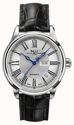 Ball Watch Company Trainmaster römisches, automatisches Zierband weißes Zifferblatt NM1058D-L4J-WH