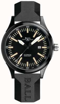 Ball Watch Company Feuerwehrmann Nachtzug automatische Gummiband schwarzes Zifferblatt NM2092C-P-BK