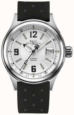 Ball Watch Company Fireman Racer automatischer Gummiband weißes Zifferblatt NM2088C-P2J-WHBK