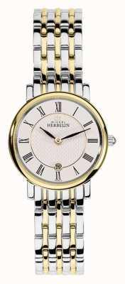 Michel Herbelin Womans zwei Ton-Edelstahl-Gold-Silber-Gurt 16945/BT01