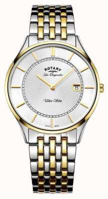Rotary Herren zweifarbiges Armband extrem dünn GB90801/02