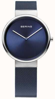Bering Unisex blau Eisen überzogenes Stahlgitterband 14531-307