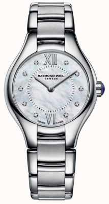 Raymond Weil Womans Edelstahl 10 Diamant-Perlmutt-Zifferblatt 5124-ST-00985