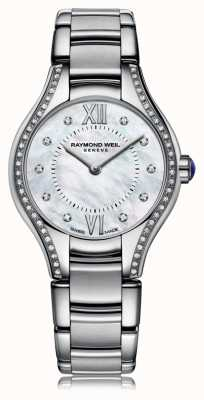 Raymond Weil Womans Noemia 62 Diamond Perlmutt Zifferblatt 5124-STS-00985