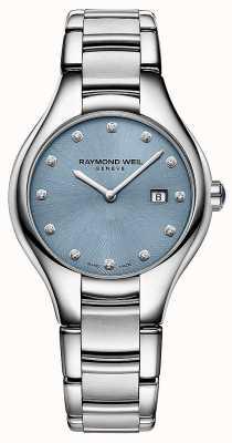 Raymond Weil Damen Noemia 12 Diamant blaues Zifferblatt 5132-ST-50081
