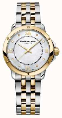Raymond Weil Womans Tango zweifarbiger Diamant-Punkt Perlmutt 5391-STP-00995