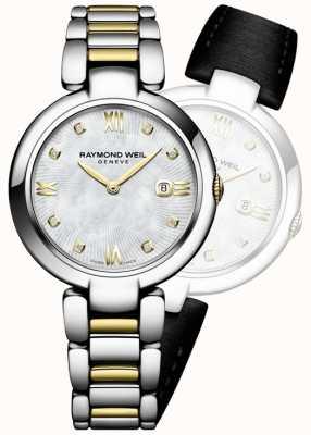 Raymond Weil Womans glänzen zwei Ton Edelstahl Diamant Punkt 1600-STP-00995