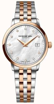 Raymond Weil Womans zwei Ton Roségold Diamant dot 5988-SP5-97081