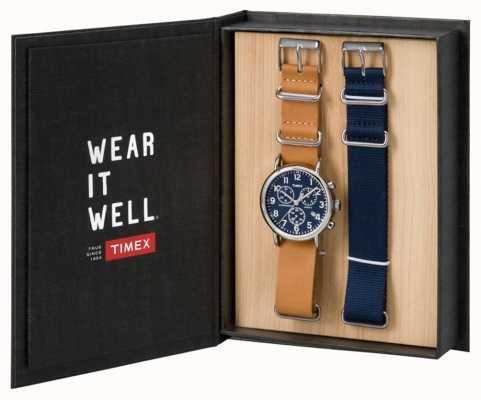 Timex Mens Weekender Chronograph Geschenk-Set TWG012800