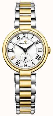 Dreyfuss Damen 1974 zwei Ton vergoldet Uhr DLB00158/01