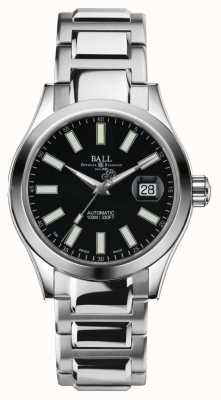 Ball Watch Company Mens Ingenieur ii Automatik Edelstahl schwarzes Zifferblatt NM2026C-S6-BK