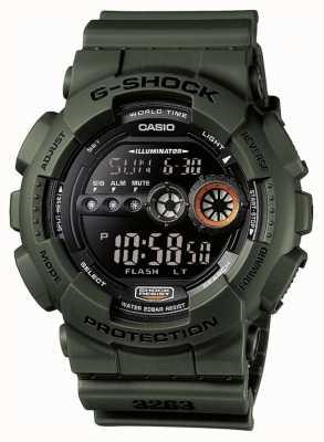 Casio Herren G-Shock Chronograph grün GD-100MS-3ER