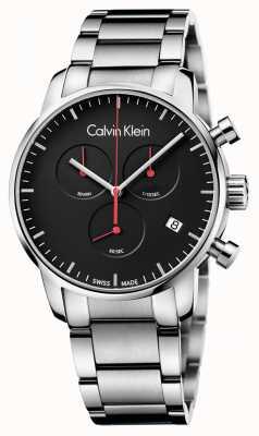 Calvin Klein Herren Stadt poliert Chronouhr K2G27141