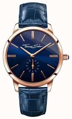 Thomas Sabo Damen Glam Geist blauem Leder WA0250-270-209-33