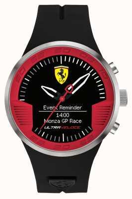 Scuderia Ferrari Mens schwarzes Kautschukband schwarz rot 0830373