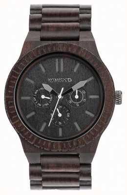 WeWood Herren Kappa schwarz Holz schwarz Band 70315300
