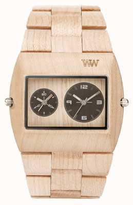 WeWood Mens jupiter rs beige Holzband 70331200