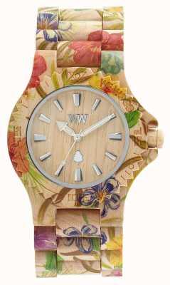 WeWood Frauen Datum Blume beige Holzband 70221200