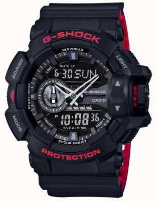 Casio Mens g-shock Alarm-Chronograph schwarz Resinarmband GA-400HR-1AER