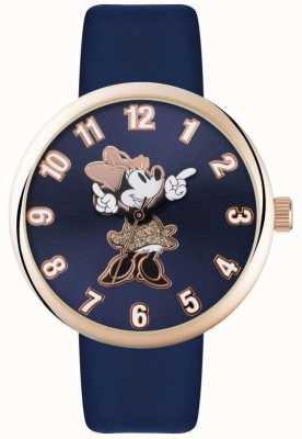 Disney Adult Minnie Maus Roségold Gehäuse blau Armband MN1471