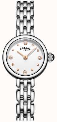 Rotary Womans elegante Edelstahl-Cocktail Uhr LB05052/02