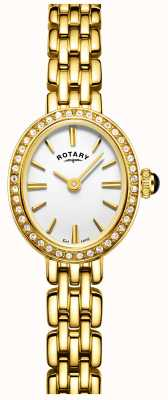 Rotary Womans vergoldete Cocktail Uhr LB05051/02