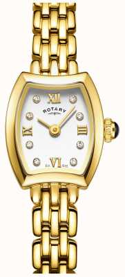 Rotary Womans vergoldete Cocktail Uhr LB05055/01
