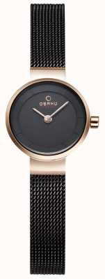 Obaku Womans schwarze Masche und Gold-Metall-Uhr V199LXVNMN