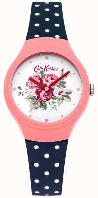 Cath Kidston Damen Blume Wahl blaue Tupfen-Uhr CKL024PU