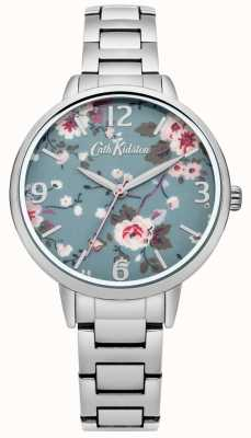 Cath Kidston nachlaufende Rose Silber Armbanduhr CKL001SM