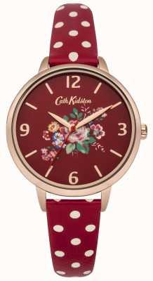 Cath Kidston Briar Rose rot Polka Dot Armbanduhr CKL004RRG