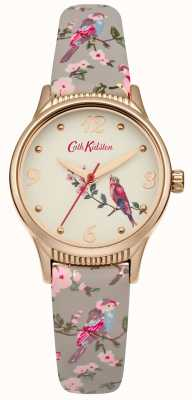 Cath Kidston Grau Basis gedruckt Vögel Grafik CKL013ERG