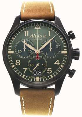 Alpina Mens Startimer Pilot Chronograph Quarz AL-372GR4FBS6