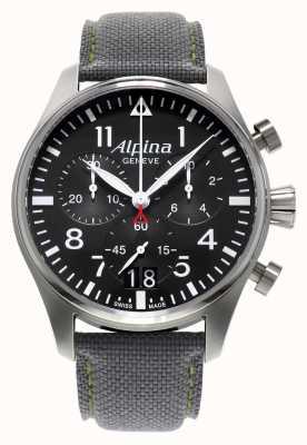 Alpina Mens Startimer Pilot Chronograph Quarz AL-372B4S6