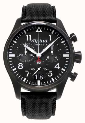Alpina Mens Startimer Pilot Chronograph Quarz AL-372B4FBS6