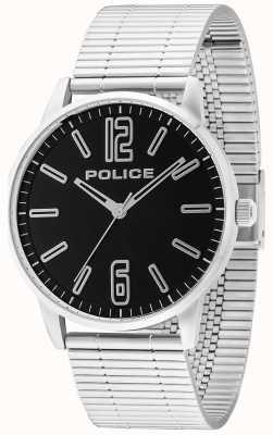 Police Mens esquire Edelstahl Billet schwarz 14765JS/02M