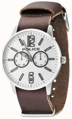 Police Herren esquire x dunkelbraunem Leder 14766JS/04