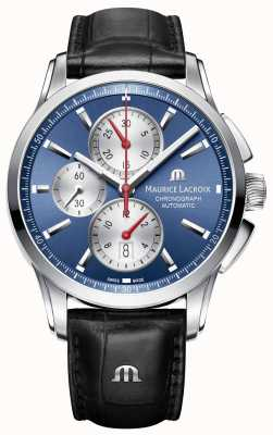 Maurice Lacroix Mens pontos Automatik-Chronograph blau PT6388-SS001-430-1