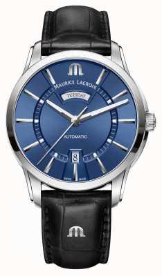 Maurice Lacroix Mens pontos automatische blau PT6358-SS001-430-1
