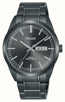 Pulsar Herren graue Edelstahluhr PJ6075X1