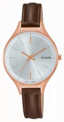 Pulsar Damen braun Leder Uhr PH8282X1
