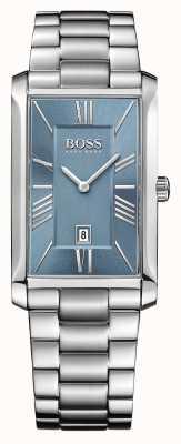 Hugo Boss Mens Admiral Edelstahlarmband blaues Zifferblatt 1513438
