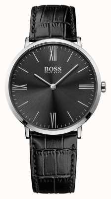 Hugo Boss Mens jackson schwarzes Lederband Zifferblatt schwarz 1513369