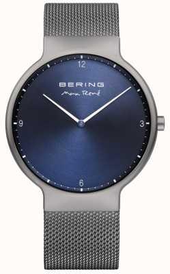 Bering Herren max rené austauschbares Netzgurt grau 15540-077