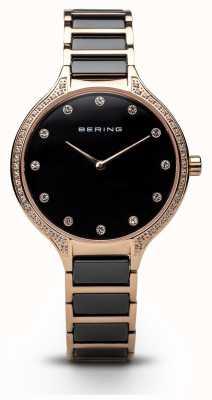 Bering Damen schwarz eramic Zirkonia Set Uhr 30434-746