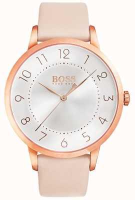 Boss Womens Eclipse rosa Lederuhr 1502407