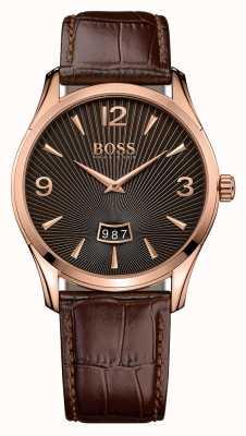 Hugo Boss Herren commander braunem Leder Uhr 1513426